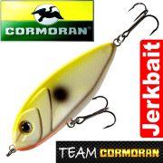 Team Cormoran Micro Jerkman Jerkbait 7cm Yellow White 12g Sinking