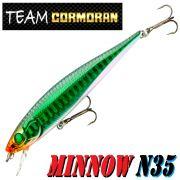 Team Cormoran Minnow N35 Wobbler 85mm 7g Floating 1 Stück Farbe Green Shiner