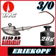 VMC jigkopfhaken Jigkopf Eriekopf 3/0 28g Jighaken mit VMC Barbarian 5150 RD Haken